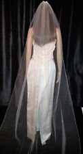 Ivory cathedral bridal veil scattered diamante crystal rhinestones. 1T 108""