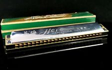 More details for vintage chinese harmonica, hero, 48 hole