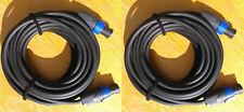 2 x 10M Speakon Speaker Cables 2.5mm Genuine Neutrik NL4FX Pro Tour 2 core leads