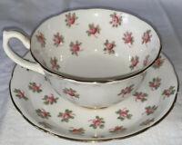 MINT Vtg Hammersley & Co. Rosebud 4049 Tea Cup & Saucer c. 1940s