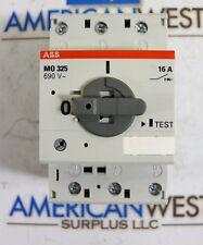 ABB M0 325  690V  16 A  3 pole motor circuit breaker  3 phase din rail  M0325