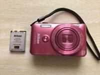 Nikon COOLPIX S6900 16MP Digital Camera with 12x Zoom Glossy Pink USED