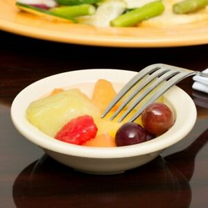 Carlisle 4353225 Dallas Ware 3.5 oz. Tan Fruit Bowl - LOT OF 48