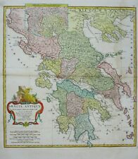 Antique Map of Greece by Jean Baptiste D'Anville 1783