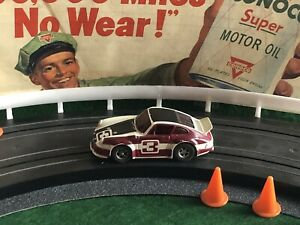 Vintage PORSCHE CARRERA TURBO Aurora AFX Racing Slot Car T-JET MoDeL MoToRing