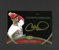 2012 TOPPS TIER 1 ONE BASEBALL COLE HAMELS AUTO ON CARD PHILLIES #D 1/1
