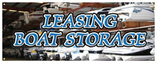 Leasing Boat Storage Banner Marina Boat Sales Boatyard Retail Store Sign 36x96