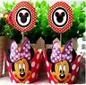 12 Polka Dot Minnie Mouse Cupcake Toppers+12 Wrappers Birthday Party Decoration