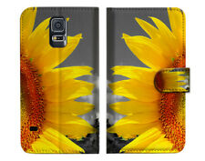 Sunflower Wallet Case Cover For Samsung Galaxy S5 - A012