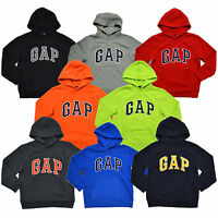 Gap Boys Hoodie Kids Pullover Sweatshirt Arch Logo Fleece Lined Pockets New Nwt