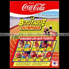 COCA-COLA COKE 'La boutique Olympique' - 1984 Pub / Publicité / Ad #A336