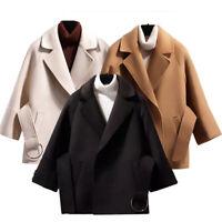 Ladies Long Sleeve Coat Overcoat Comfy Casual Cardigan Jackets Outwear Winter