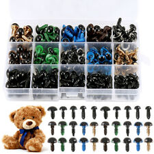 264 Pcs Plastic Safety Eyes For Bear Stuffed Toys Animal Puppet Dolls 6 - 12mm