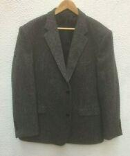 "Harris Tweed Mans Jacket 48"" L 48 S Wool LG Dark Grey Charcoal Button Lined Hugo"