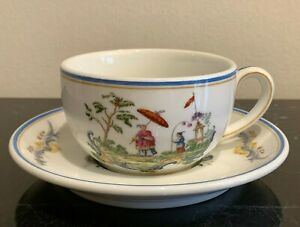 Richard Ginori Italia Lines Chinoiserie Vintage Cup and Saucer