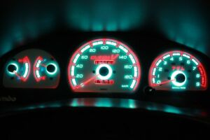 Toyota Starlet / Glanza 1996-1999 glow gauges dials plasma dials kit tacho glow