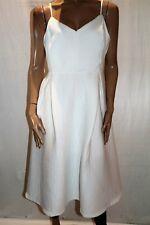 ASOS Brand White Textured Sleeveless Sweetheart Neck Dress Size 18 BNWT #TT17