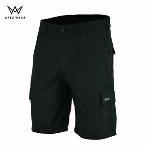 Mens Combat Cargo Work Shorts Black Siz 30 to 44 black cargo trouser