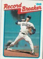 FREE SHIPPING-MINT-1989 Topps #5 Orel Hershiser  Record Breaker Dodgers