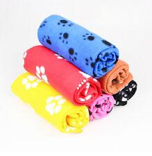 Cute Paw Print Dog Cat Pet Fleece Blanket Puppy Bed Soft Mat Car Seat Cover hcuk