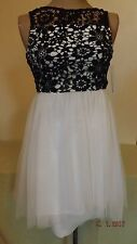 Sequin Hearts DRESSY CHIFFON FLORAL Print Lace Special Occasion sz 14 RETAIL $64