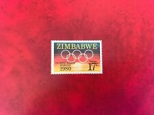 ZIMBABWE 1980 MNH SUMMER OLYMPIC GAMES MOSCOW RINGS