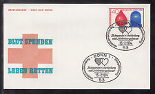 K-003) Germany: beautiful  FDC /Letters / Covers / Blutspenden / blood donations