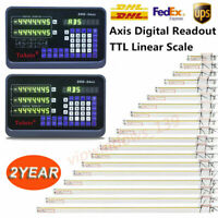 2Axis/3Axis Digital Readout DRO Display Linear Scale Encoder for Mill Lathe US