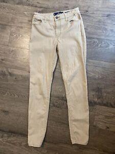 Hollister High rise super skinny khaki jeans pants size 3 R