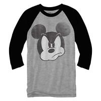Mad Mickey Mouse Disneyland World Funny Adult Men's Graphic Raglan Style Shirt
