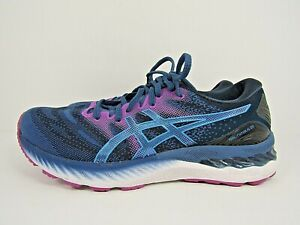 WOMEN'S ASICS GEL NIMBUS 23 size 9.5 ! WORN LESS THAN 10 MILES !RUNNING SHOES!