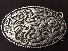 New Western Flower Design Belt Buckle