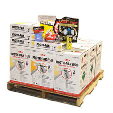 Dow Froth Pak 650 Spray Foam Insulation, 4 Kits, 2600 Sq Ft Total, FREE SHIPPING