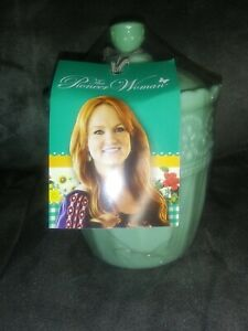 The Pioneer Woman Timeless Beauty Sugar Bowl Jade Color Glass Dishwasher Safe