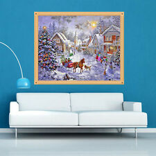 DIY 5D Diamond Christmas Eve Embroidery Painting Cross Stitch Home Decor