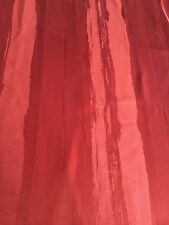 Curtain Sample Vintage Fabric Blind Cushion Craft 60c92cm Terracotta Red