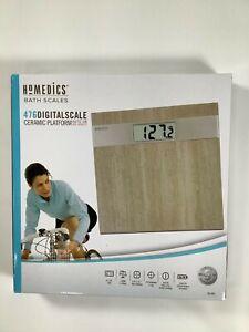 Homedics Ceramic Platform 476 Digital Bath Scale NEW! NIB