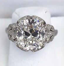 5.52 Carats t.w. Antique Wedding Diamond Ring 5.00 Carats H VVS1 GIA Certificate