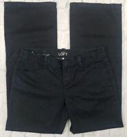 Ann Taylor LOFT Womens Modern Trouser Stretch Dark Wash Size 4P