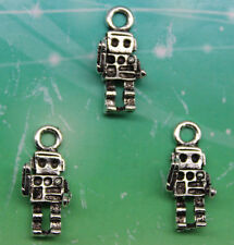 Free shipping 20pcs retro style The robot alloy charms pendants 18*8mm
