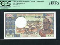 Congo:P-3c,1000 Francs,1978 * Man * PCGS Gem UNC 65 PPQ *