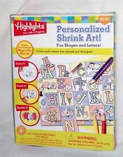 Personalized Shrink Art Fun Shapes & Letters by Highlights arts & crafts