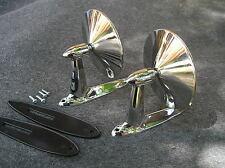New Set Vintage Style Replacement Fender Door Mirrors 53 56 57 Fits 1955 Pontiac