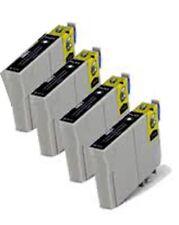 4 Black Compatible Ink Cartridges C80 C82 C70 CX5100 CX5200 Printers T0321