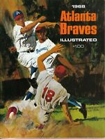 1968  Atlanta Braves Yearbook Magazine, Baseball, Phil Niekro, Hank Aaron