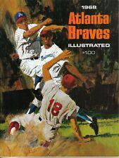 1968  Atlanta Braves Yearbook Magazine, Baseball, Phil Niekro, Hank Aaron