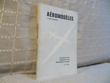 aéromodèles par Guillemard classification construction réglages et essais