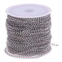 12 Meter Silber Edelstahl Kabel Kette Gliederkette für Schmuck Halskette