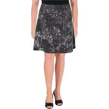Nic + Zoe Womens Black Knee-Length Metallic A-Line Skirt XS