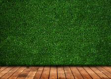 7x5ft artificial fake faux green grass wood floor backdrops party Background